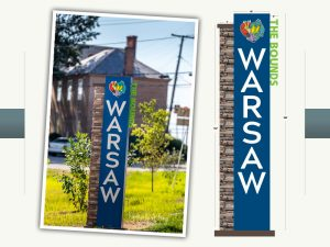 Town of Warsaw Entrance Sign